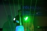 airman an der Laserharfe