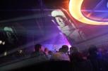 Projektionen während des Konzerts