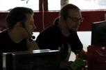 Andy und Björn in ihrem Element als Kommentatoren.