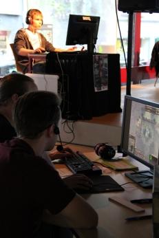 BarCraft-Dreamteam als Livekommentatoren.