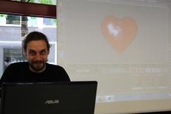 Moritz Wallasch bei seinem wohl einfachsten 3D-Modell.