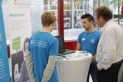 Die Hochschule Fresenius präsentiert ihr 3DOM-Projekt.
