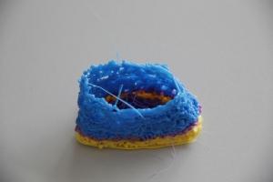 """""""Kästchen in Blau, Lila und Gelb"""" von Pia (Klick für volle Auflösung)"""