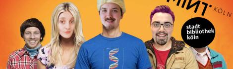 Fotomontage des Nerdquiz-Teams als die fünf Hauptcharaktere der nerdigen Fernsehserie Big Bang Theory.